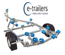 EXTREME 750kg COMPACT SWING ROLLER BOAT TRAILER 14' BOATS- 5m RIBS